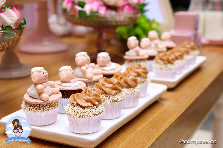 Little Lamb Baby Shower Idea TheIcedSugarCookie.com Sonho De Madalena