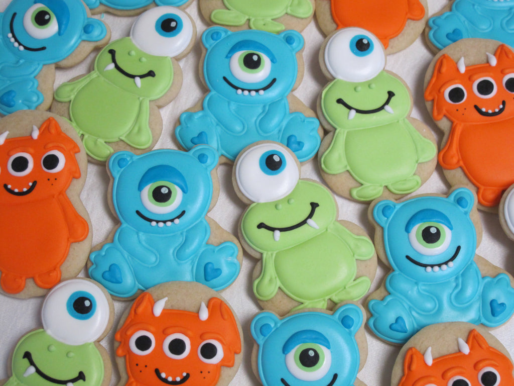 Little Monster Sugar CookiesMonster Inc Birthday Party Cookies