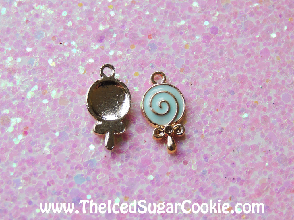 Lollipop Charms for diy necklace making or bracelet making by The Iced Sugar Cookie