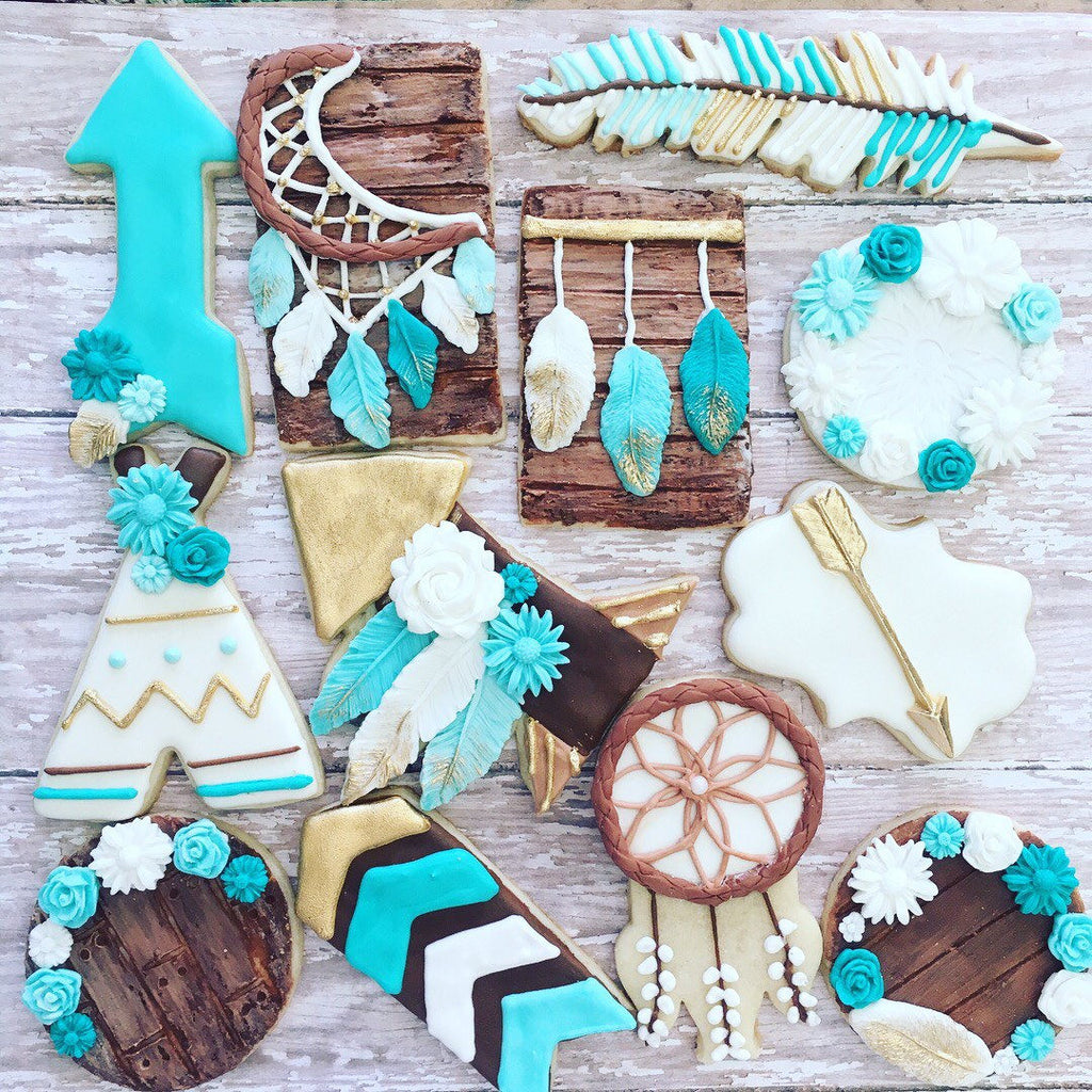 Bohemian Dream Catcher Whimsical Sugar Cookies TheIcedSugarCookie.com Luli Sweet Shop