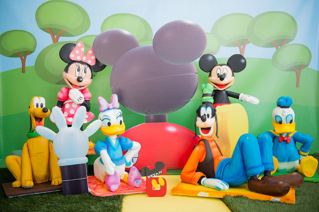 Bryan's Mickey Mouse Clubhouse 6 Month Birthday Party Cakes TheIcedSugarCookie.com Divine Delicacies Cakes, Balloons By Luz Paz, Christy And Co Photography, Bryan Jose Candeau-Mickey Mouse, Minnie Mouse, Pluto, Daisy, Donald Duck, Goofy