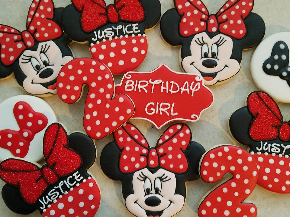 Minnie Mouse 2nd Birthday Party Sugar Cookies Decadent Desserts ABQ TheIcedSugarCookie.com