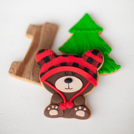 Lumberjack Birthday Party Sugar Cookies TheIcedSugarCookie.com MJ Tabush Sweet Designs
