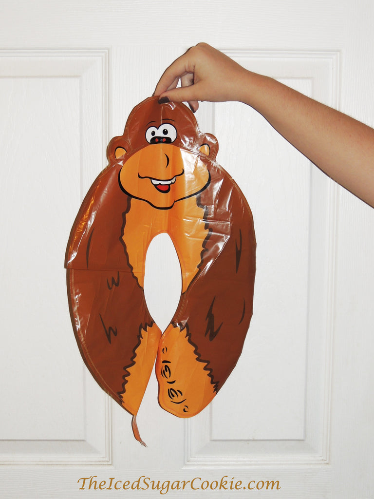 Monkey Birthday Party Balloon Number zero 0