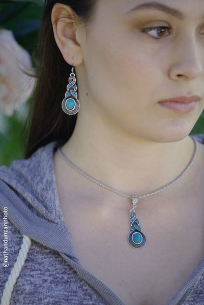 Faux Turquoise Necklace By The Iced Sugar Cookie- Fashion Jewelry