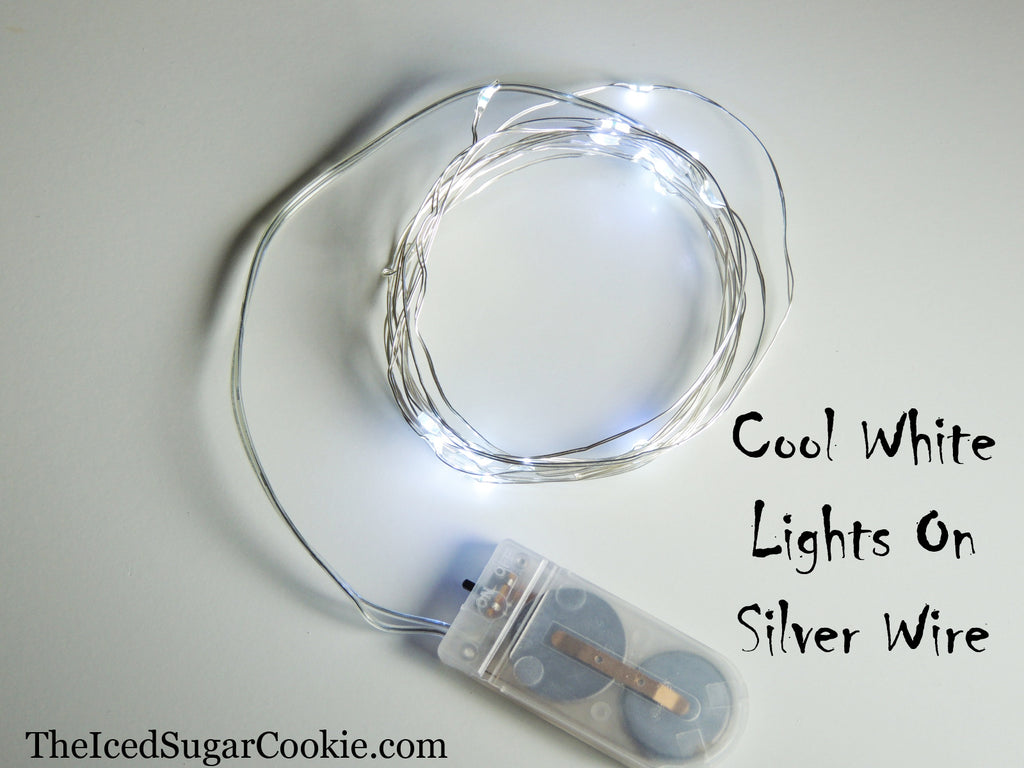 Cool White Birthday Party Lights LED Battery Operated The Iced Sugar Cookie TheIcedSugarCookie.com