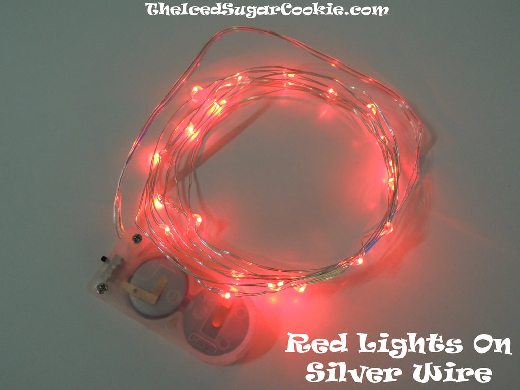 Red Birthday Party Lights LED Battery Operated Christmas DIY Wreath The Iced Sugar Cookie