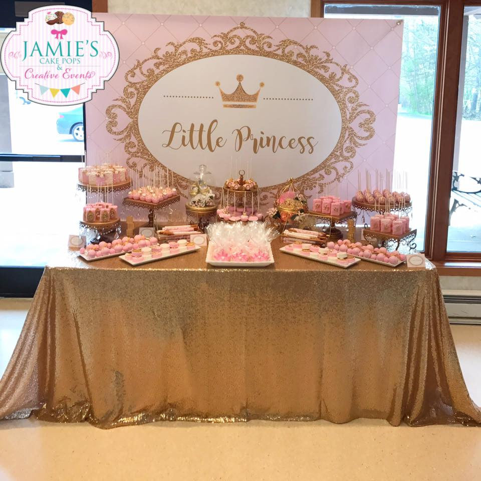 Lovely Little Princess Pink And Gold Baby Shower
