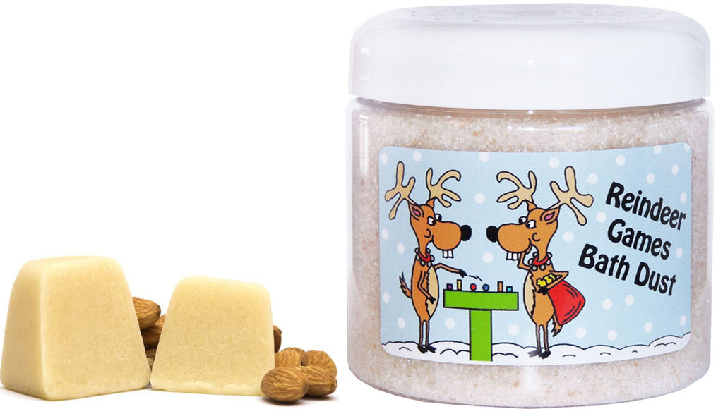 Reindeer Games Bath and Body Products by The Iced Sugar Cookie-Limited Edition Christmas Bath and Body Bath Salts, Bath Soaks, Bath Fizzies, Bath Bomb