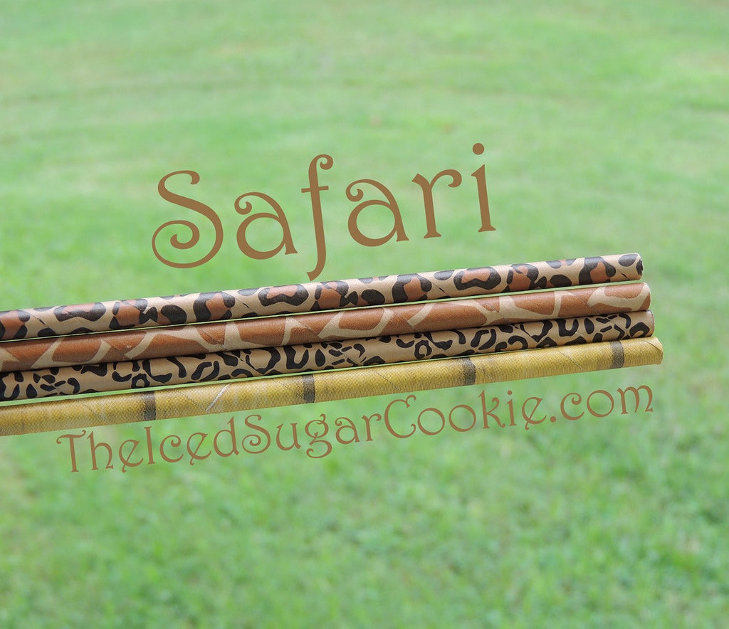 Safari Birthday Party Straws TheIcedSugarCookie.com Safari Straws