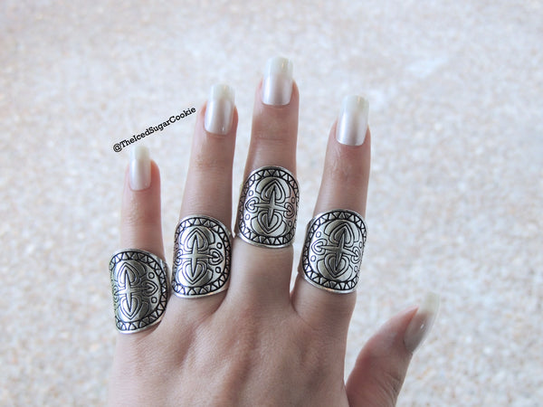 Silver Boho Midi Knuckle Rings By The Iced Sugar Cookie- Tribal, Bohemian, Hippy, Hipster, Fashion Looks