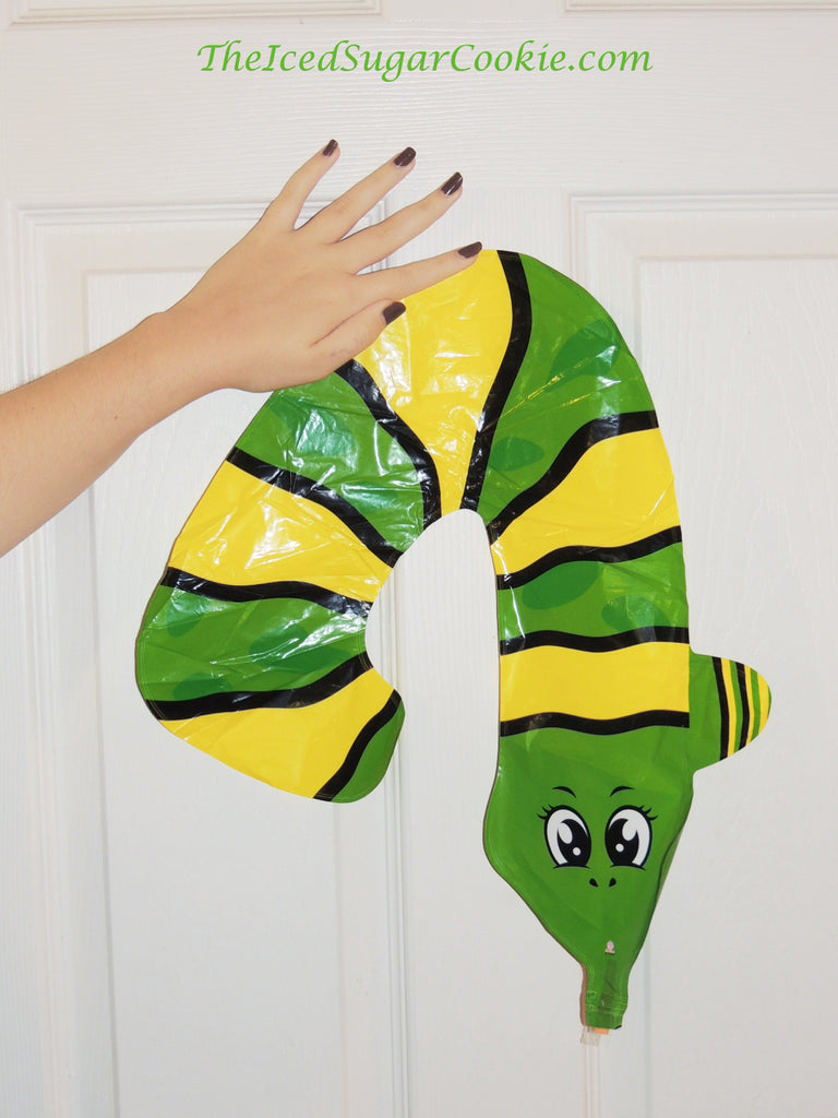 Snake Balloons-Snake Number Four Balloons-Snake Birthday Party Balloons