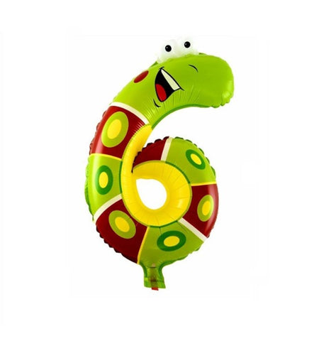 Snake Balloon-Number Six Snake Balloons-Snake Balloons-Snake Birthday Party Balloons