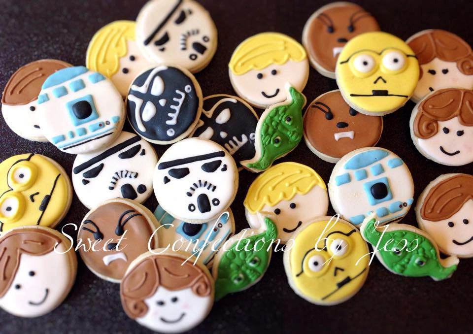 Star Wars Birthday Party Sugar Cookies TheIcedSugarCookie.com Sweet Confections By Jess