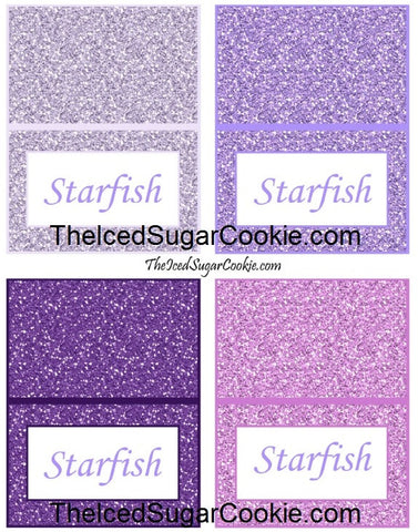 Mermaid Starfish Food Label Tent Cards-Mermaid Under The Sea Birthday Party Food Tent Cards
