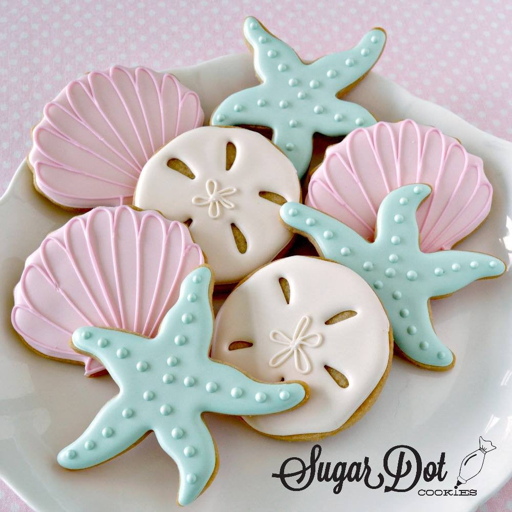 Summer Beach Sugar Cookies Sugar Dot Cookies TheIcedSugarCookie.com