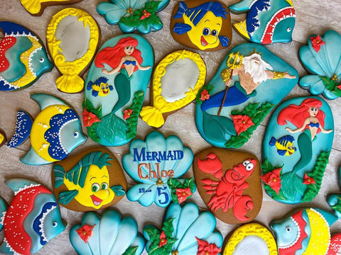 The Little Mermaid Sugar Cookies TheIcedSugarCookie.com Tale Cookies