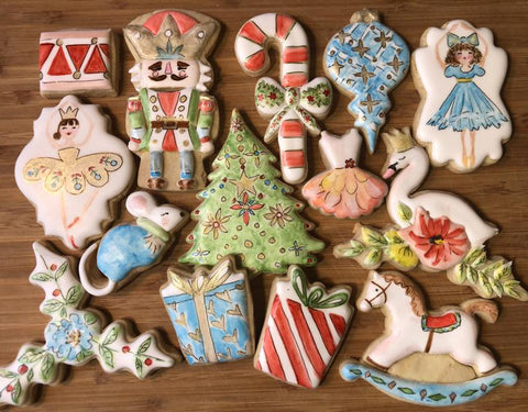 The Nutcracker Christmas Sugar Cookies by Little Birdie Parties on TheIcedSugarCookie.com