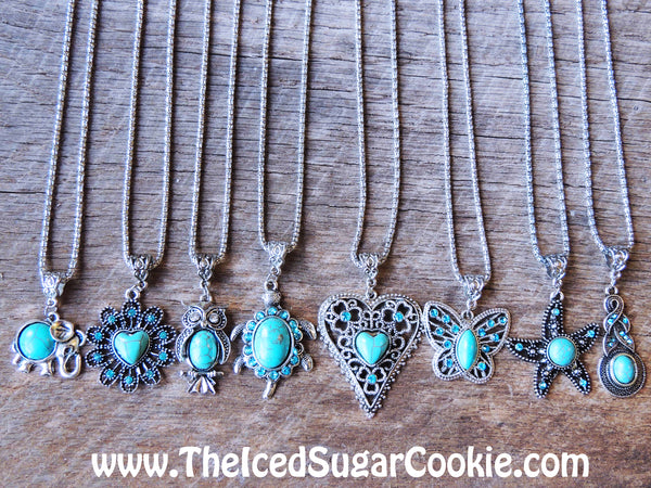 Heart Turquoise Necklaces Jewelry Bracelets Boho Chic Hippy Hipster Indian The Iced Sugar Cookie