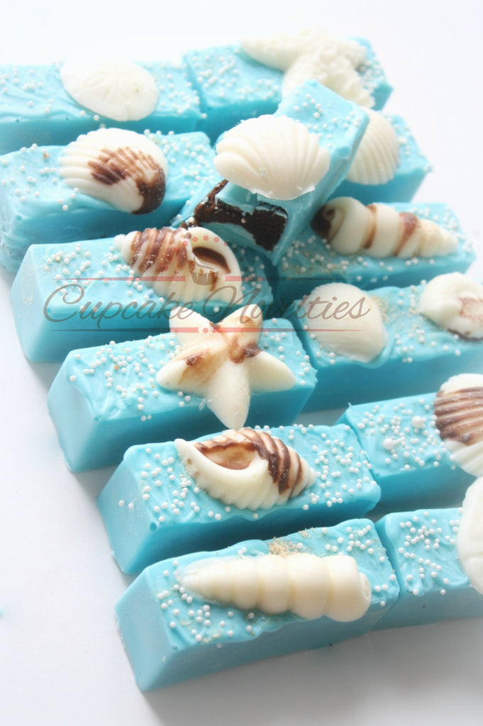 Under The Sea Cake Pop Bars-Mermaid Birthday Party, Baby Shower, Wedding Shower. TheIcedSugarCookie.com Made by Cupcake Novelties