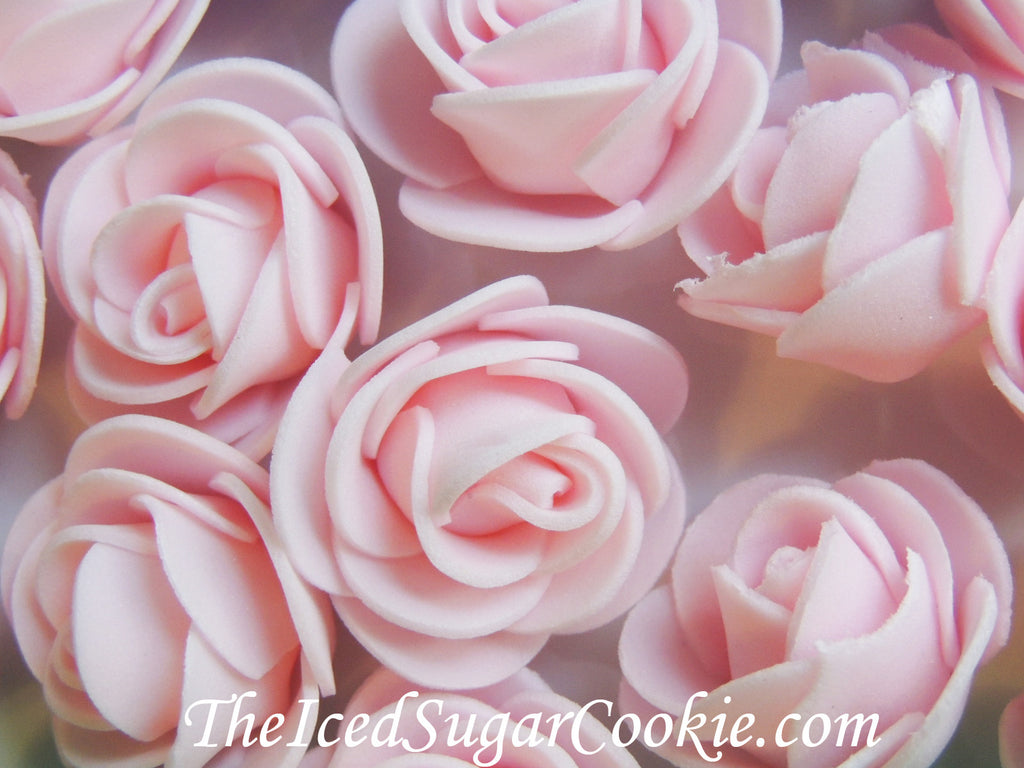 Unicorn Pink Foam Flower Roses Table Decor TheIcedSugarCookie.com