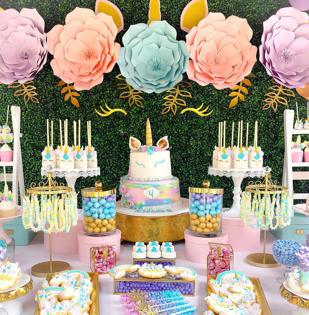 Unicorn 4th Birthday Party By ShirleyAmbalu Featured On TheIcedSugarCookie Unicornparty Unicornpartyideas