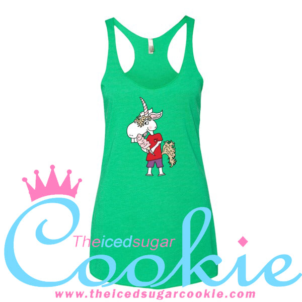 Unicorn Eating Cotton Candy Women's Tank Top by The Iced Sugar Cookie