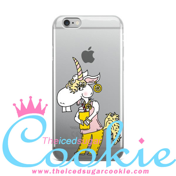 Unicorn Drinking Lemonade iphone 6s case by The Iced Sugar Cookie