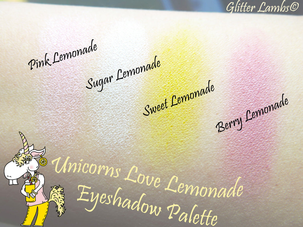Unicorns Love Lemonade Eyeshadow Palette by Glitter Lambs- DIY Makeup Palette