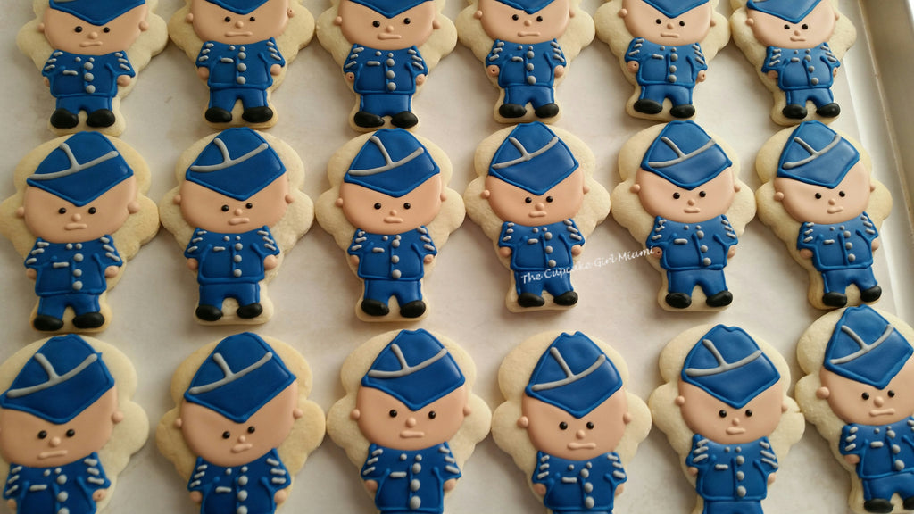 United States Air Force Sugar Cookies TheIcedSugarCookie.com The Cupcake Girl Miami