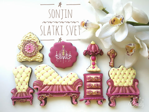 Victorian Furniture Sugar Cookies TheIcedSugarCookie.com Sonjin Slatki Svet Sonja's Sweet World