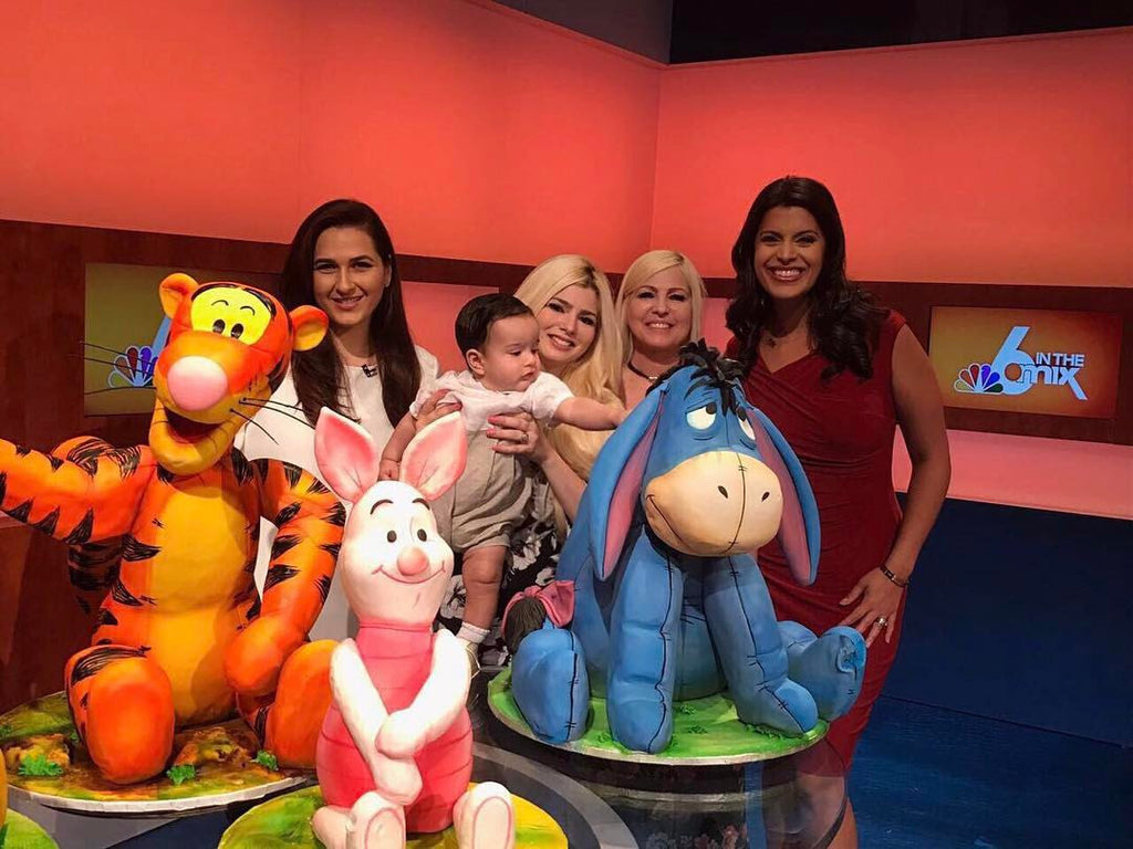 Bryan Candaeu's Winnie The Pooh, Tigger, Piglet, Eeyore Cakes on NBC6 In the Mix News with Roxanne Vargas on TheIcedSugarCookie.com