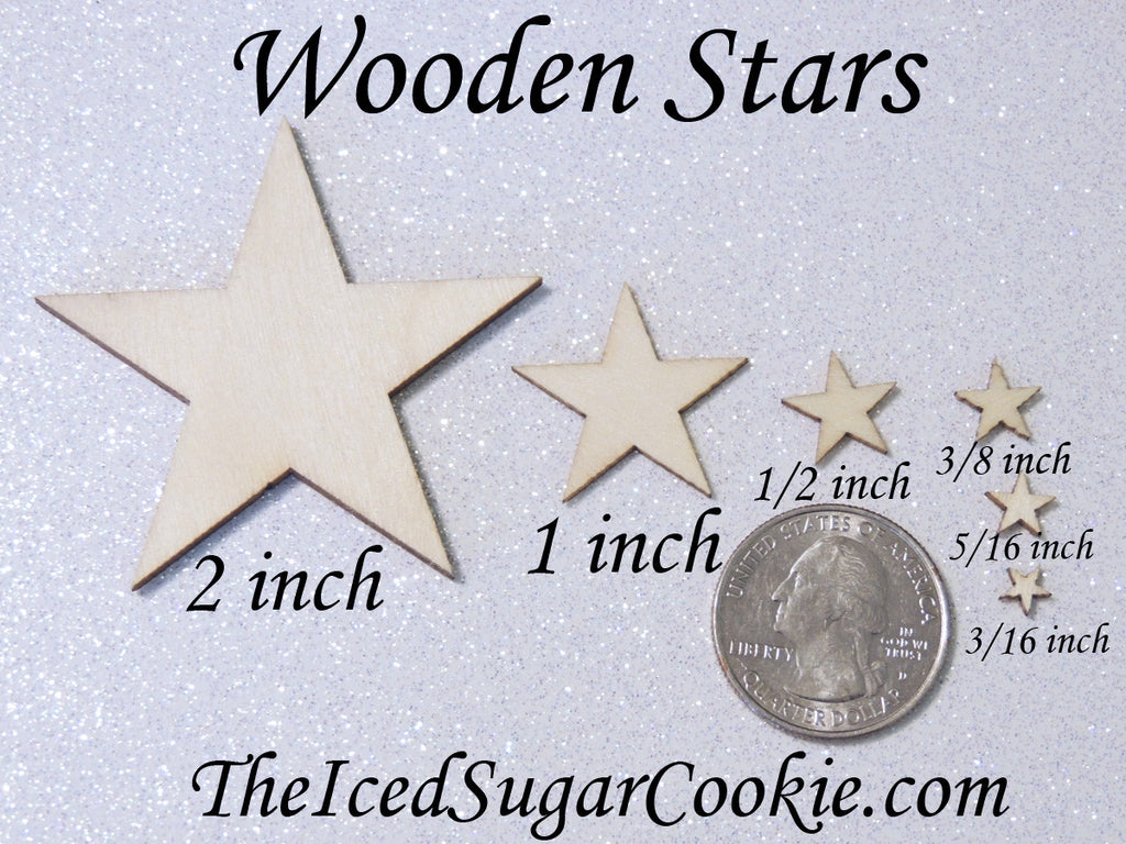 Wooden Stars Wood Stars For DIY Crafts Mermaid Birthday Party Wood Stars