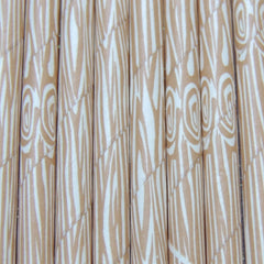 Wood Grain Tree Bark Paper Straws-PKG of 25