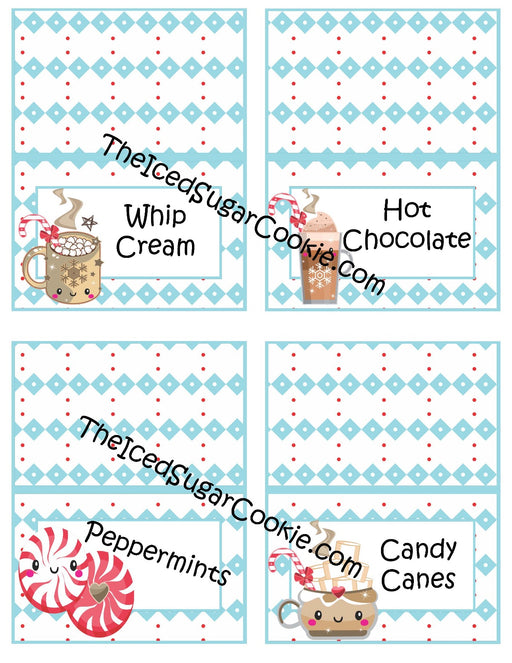 Hot Chocolate Food Cards Printable