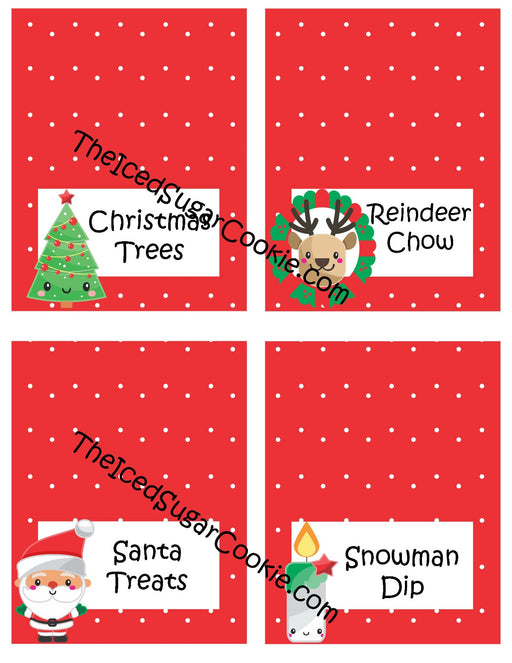 100 Printable Christmas Food Cards