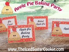 Apple Pie Baking Party Food Cards