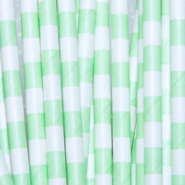 Lime Green Paper Straws-Lime Green Drinking Paper Straws-TheIcedSugarCookie.com Birthday Party Paper Straws