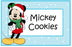 Christmas Mickey Mouse Food Cards Free Printable digital download by The Iced Sugar Cookie