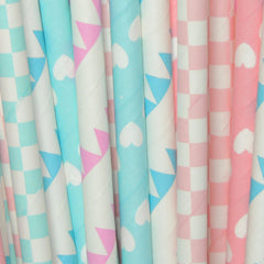 Gender Reveal Paper Straws