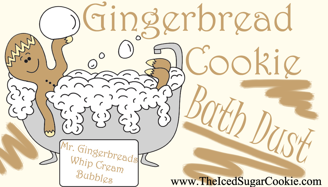 Gingerbread Cookie Bath Dust