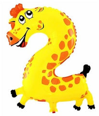 Giraffe Balloon Number 2 Birthday party balloons