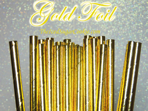 Gold Foil Paper Straws by TheIcedSugarCookie.com #goldstraws #goldpaperstraws #paperstraws