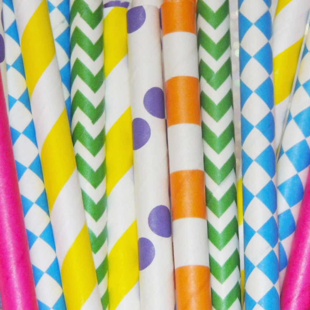 Mad Hatter Paper Straws
