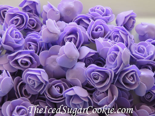 Purple Mermaid Under The Sea Foam Flower Roses Table Decor TheIcedSugarCookie.com