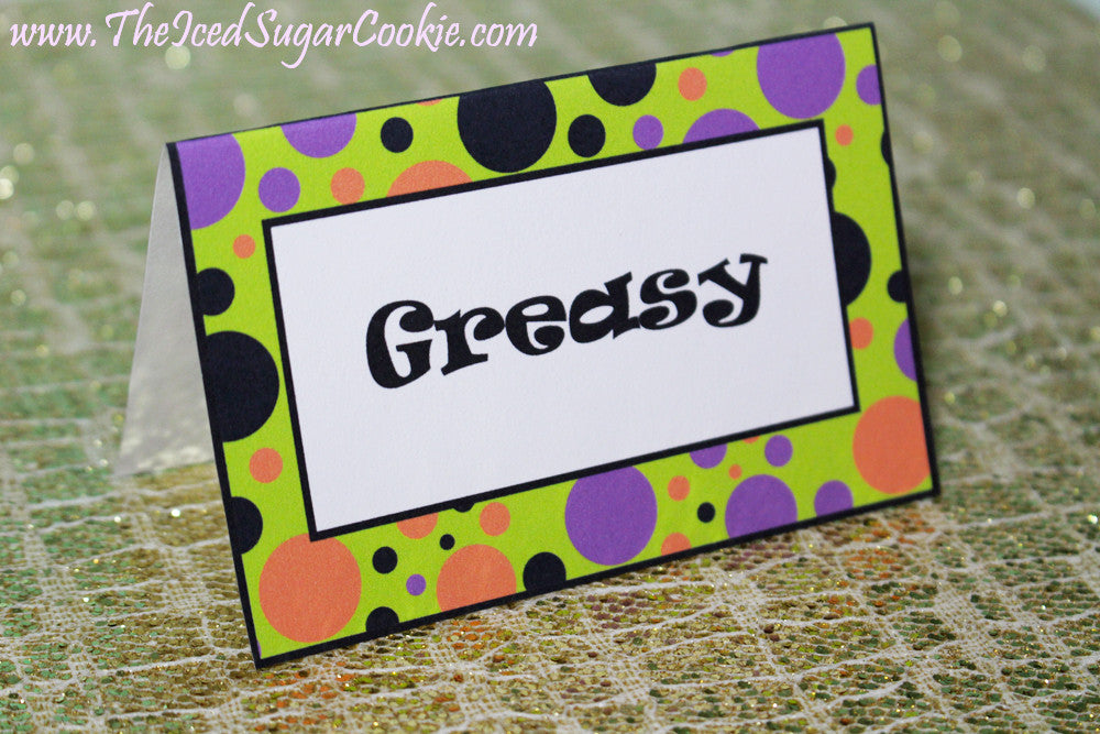 Monster Mash Food Tent Cards