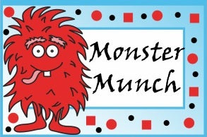 Little Monster Food Tent Cards | Digital Download by The Iced Sugar Cookie For A Little Monster Birthday Party