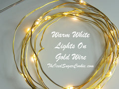 Warm White On Gold Wire Birthday Party Lights