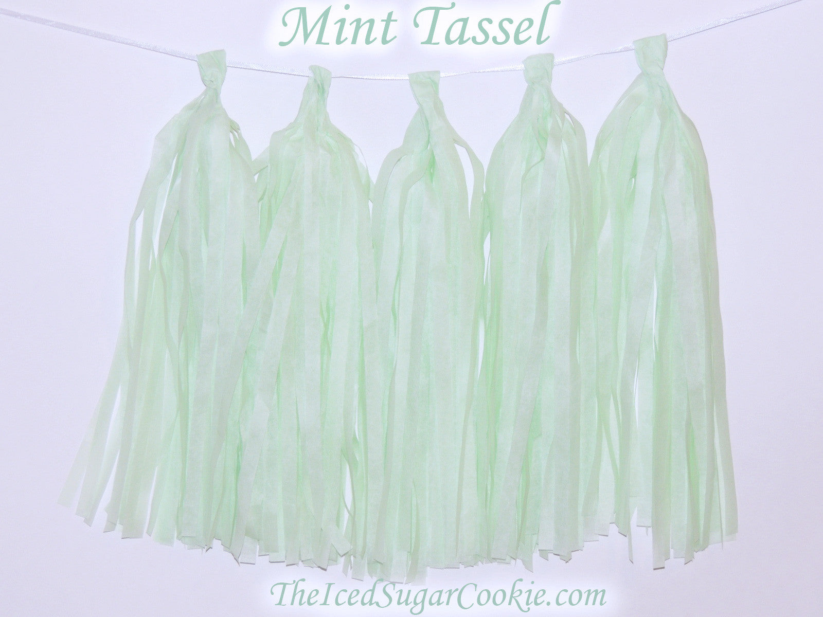 Mint Green Tissue Paper TasselUnicorn Baby ShowerMermaid Garland