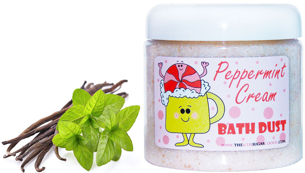 Peppermint Cream Bath Dust